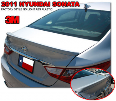 Spoilers - Custom Wing - DAR Spoilers - Hyundai Sonata DAR Spoilers OEM Look Trunk Lip Wing w/o Light ABS-743