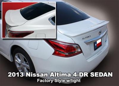 Spoilers - Custom Wing - DAR Spoilers - Nissan Altima 4-Dr DAR Spoilers OEM Look Flush Wing w/ Light ABS-764