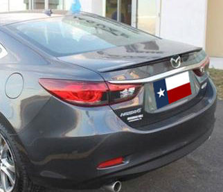 Spoilers - Custom Wing - DAR Spoilers - Mazda 6 Sedan DAR Spoilers OEM Look Trunk Lip Wing w/o Light ABS-770