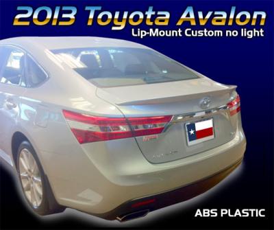 Spoilers - Custom Wing - DAR Spoilers - Toyota Avalon DAR Spoilers Custom Trunk Lip Wing w/o Light ABS-772