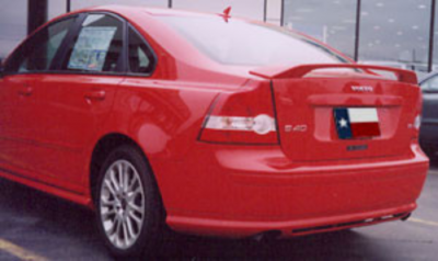 Spoilers - Custom Wing - DAR Spoilers - Volvo S40 DAR Spoilers OEM Look 3 Post Wing w/o Light FG-001