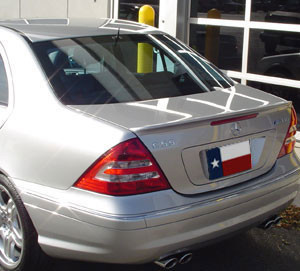 Spoilers - Custom Wing - DAR Spoilers - Mercedes C-Class DAR Spoilers OEM Look Trunk Lip Wing w/o Light FG-002