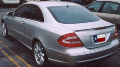 Spoilers - Custom Wing - DAR Spoilers - Mercedes CLK55 DAR Spoilers OEM Look Trunk Lip Wing w/o Light FG-009