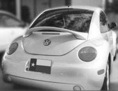 Spoilers - Custom Wing - DAR Spoilers - Volkswagen Beetle DAR Spoilers Custom 3 Post Wing w/o Light FG-016