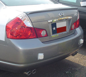 Spoilers - Custom Wing - DAR Spoilers - Infiniti M35/45 DAR Spoilers OEM Look Trunk Lip Wing w/o Light FG-040