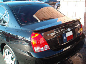 Spoilers - Custom Wing - DAR Spoilers - Hyundai Elantra Sedan DAR Spoilers OEM Look 3 Post Wing w/ Light FG-046