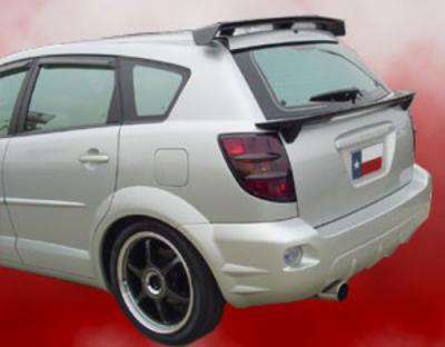 Spoilers - Custom Wing - DAR Spoilers - Pontiac Vibe DAR Spoilers OEM Look Flush Wing w/o Light FG-047