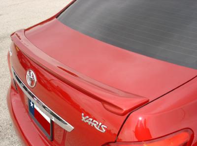 Spoilers - Custom Wing - DAR Spoilers - Toyota Yaris 4-Dr DAR Spoilers Custom Trunk Lip Wing w/o Light FG-058