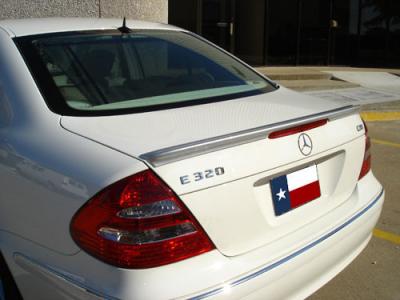 Spoilers - Custom Wing - DAR Spoilers - Mercedes E-Class E63 DAR Spoilers OEM Look Trunk Lip Wing w/o Light FG-076