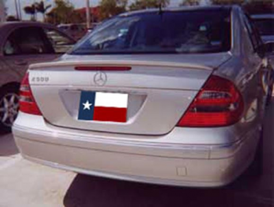 Spoilers - Custom Wing - DAR Spoilers - Mercedes E-Class DAR Spoilers OEM Look Trunk Lip Wing w/o Light FG-077