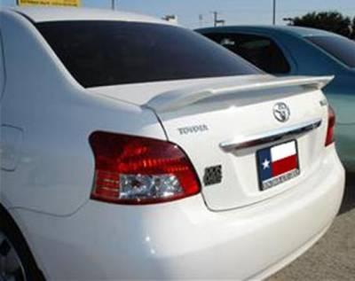 Spoilers - Custom Wing - DAR Spoilers - Toyota Yaris 4-Dr DAR Spoilers Custom 3 Post Wing w/o Light FG-096