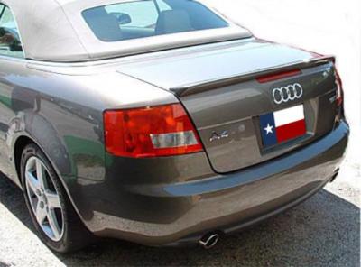 Spoilers - Custom Wing - DAR Spoilers - Audi A4 Cabriolet DAR Spoilers Custom Trunk Lip Wing w/o Light FG-113