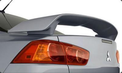 Spoilers - Custom Wing - DAR Spoilers - Mitsubishi Lancer DAR Spoilers OEM Look 3 Post Wing w/o Light FG-118