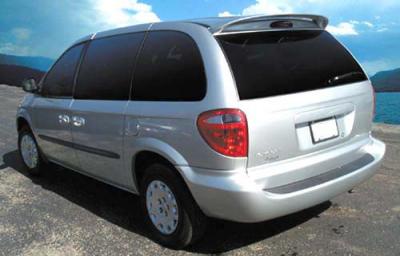Spoilers - Custom Wing - DAR Spoilers - Dodge Caravan DAR Spoilers OEM Look Roof Wing w/o Light FG-124
