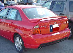 Spoilers - Custom Wing - DAR Spoilers - Ford Focus 4-Dr DAR Spoilers OEM Look 3 Post Wing w/o Light FG-130