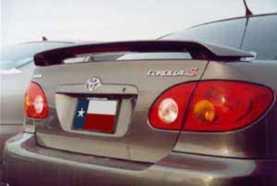 Spoilers - Custom Wing - DAR Spoilers - Toyota Corolla DAR Spoilers OEM Look 3 Post Wing w/ Light FG-131