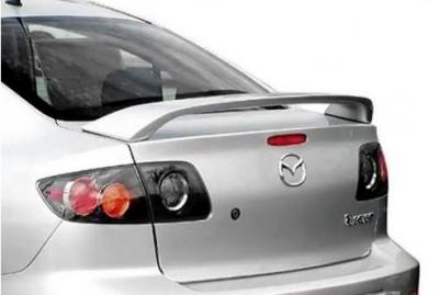 Spoilers - Custom Wing - DAR Spoilers - Mazda 3 Sedan DAR Spoilers OEM Look 3 Post Wing w/o Light FG-160