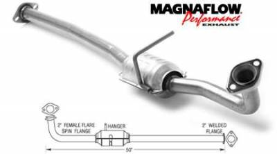 Exhaust - Catalytic Converter - MagnaFlow - MagnaFlow Direct Fit Catalytic Converter - 22615