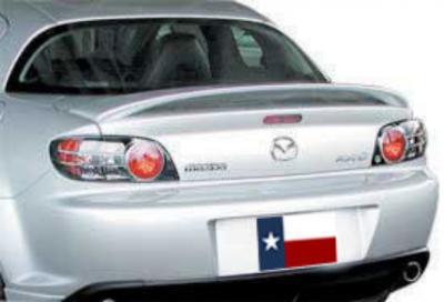 Spoilers - Custom Wing - DAR Spoilers - Mazda RX-8 DAR Spoilers OEM Look 3 Post Wing w/o Light FG-177