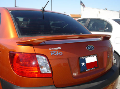 Spoilers - Custom Wing - DAR Spoilers - Kia Rio 4-Dr DAR Spoilers OEM Look 3 Post Wing w/ Light FG-189