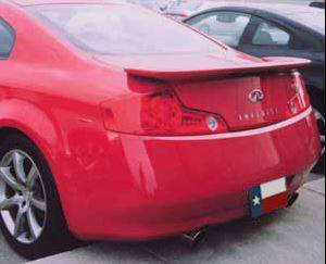 Spoilers - Custom Wing - DAR Spoilers - Infiniti G35 Coupe DAR Spoilers OEM Look Flush Wing w/ Light FG-194