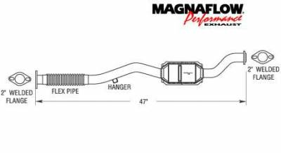 Exhaust - Catalytic Converter - MagnaFlow - MagnaFlow Direct Fit Front Catalytic Converter - 22768