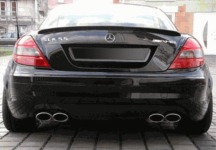 Spoilers - Custom Wing - DAR Spoilers - Mercedes SLK DAR Spoilers OEM Look Trunk Lip Wing w/o Light FG-206