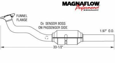 Exhaust - Catalytic Converter - MagnaFlow - MagnaFlow Direct Fit Catalytic Converter - 22924