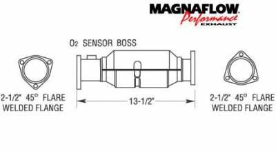 Exhaust - Catalytic Converter - MagnaFlow - MagnaFlow Direct Fit Catalytic Converter - 22929