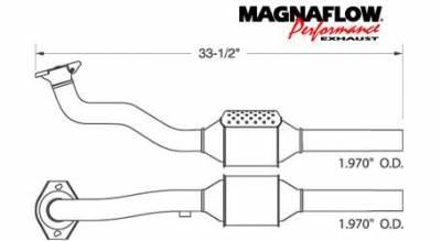 Exhaust - Catalytic Converter - MagnaFlow - MagnaFlow Direct Fit OEM Style Catalytic Converter - 22955