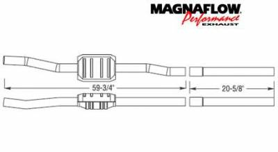 Exhaust - Catalytic Converter - MagnaFlow - MagnaFlow Direct Fit Catalytic Converter - 23228