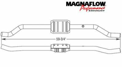 Exhaust - Catalytic Converter - MagnaFlow - MagnaFlow Direct Fit Catalytic Converter - 23232