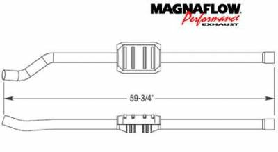 Exhaust - Catalytic Converter - MagnaFlow - MagnaFlow Direct Fit Catalytic Converter - 23233