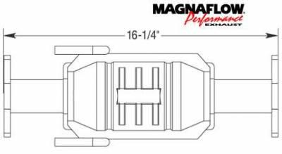 Exhaust - Catalytic Converter - MagnaFlow - MagnaFlow Direct Fit Catalytic Converter - 23243