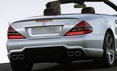 Spoilers - Custom Wing - DAR Spoilers - Mercedes SL63 DAR Spoilers OEM Look Trunk Lip Wing w/o Light FG-234
