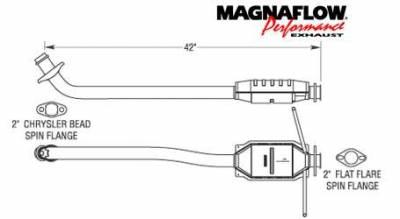 Exhaust - Catalytic Converter - MagnaFlow - MagnaFlow Direct Fit Rear Catalytic Converter - 23248