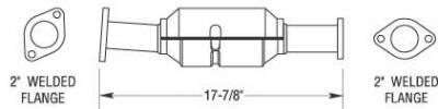 Exhaust - Catalytic Converter - MagnaFlow - MagnaFlow Direct Fit Catalytic Converter - 23249