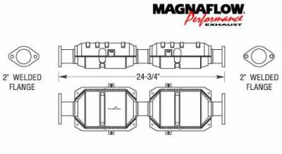 Exhaust - Catalytic Converter - MagnaFlow - MagnaFlow Direct Fit Catalytic Converter - 23250