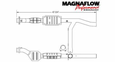 Exhaust - Catalytic Converter - MagnaFlow - MagnaFlow Direct Fit Catalytic Converter - 23345