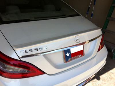 Spoilers - Custom Wing - DAR Spoilers - Mercedes CLS DAR Spoilers OEM Look Trunk Lip Wing w/o Light FG-289