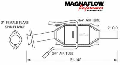 Exhaust - Catalytic Converter - MagnaFlow - MagnaFlow Direct Fit Catalytic Converter - 23349