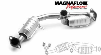 Exhaust - Catalytic Converter - MagnaFlow - MagnaFlow Direct Fit Y-Pipe Catalytic Converter - 23354