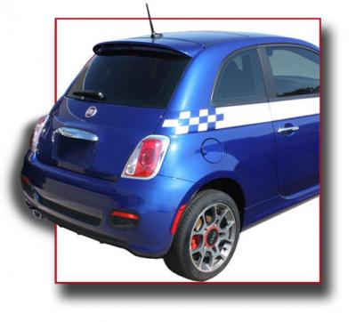 Spoilers - Custom Wing - DAR Spoilers - Fiat 500 (Small) DAR Spoilers OEM Look Roof Wing w/o Light FG-295