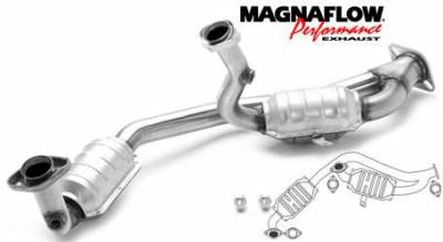 Exhaust - Catalytic Converter - MagnaFlow - MagnaFlow Direct Fit Y-Pipe Catalytic Converter - 23356