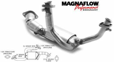 Exhaust - Catalytic Converter - MagnaFlow - MagnaFlow Direct Fit Y-Pipe Catalytic Converter - 23357