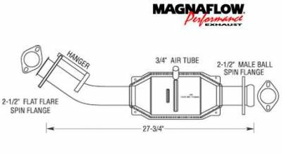 Exhaust - Catalytic Converter - MagnaFlow - MagnaFlow Direct Fit Catalytic Converter - 23361