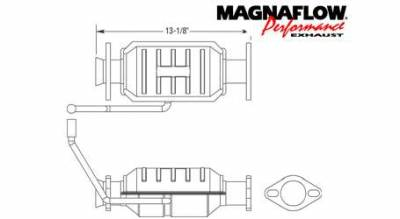 Exhaust - Catalytic Converter - MagnaFlow - MagnaFlow Direct Fit Catalytic Converter - 23383