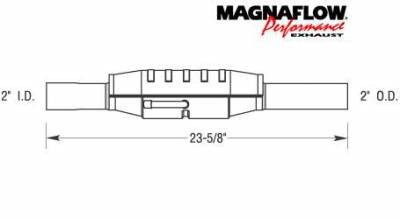 Exhaust - Catalytic Converter - MagnaFlow - MagnaFlow Direct Fit Catalytic Converter - 23401