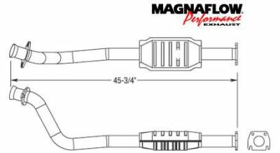 Exhaust - Catalytic Converter - MagnaFlow - MagnaFlow Direct Fit Catalytic Converter - 23407