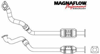 Exhaust - Catalytic Converter - MagnaFlow - MagnaFlow Direct Fit Catalytic Converter - 23413